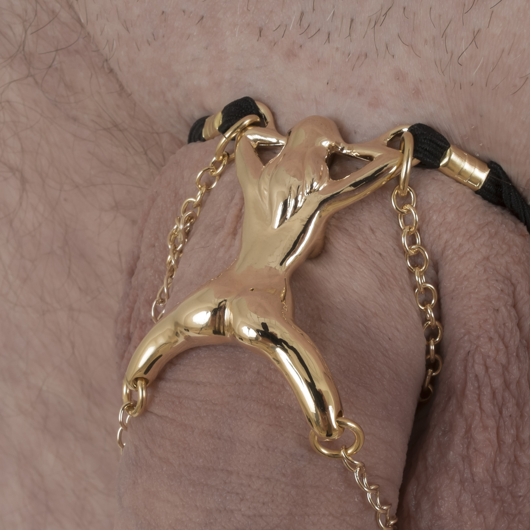 BH136 Men's Gold Woman Shaft Penis Chain