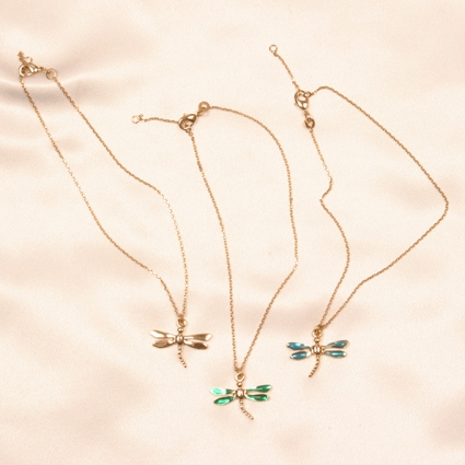 CHC29 Unisex Dragonfly wrist/ ankle chain with gems By Sylvie Monthule