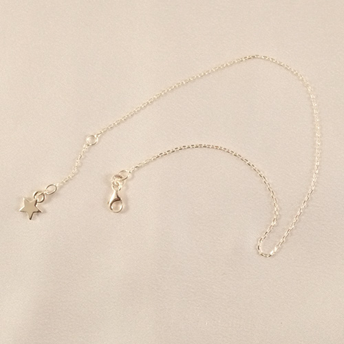 CHC48 Silver Star Wrist or Ankle Chain