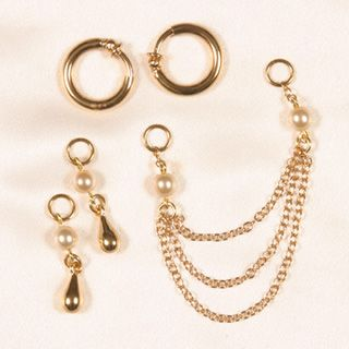 COF03 Non-piercing 3 in 1 labia jewelry in gift box