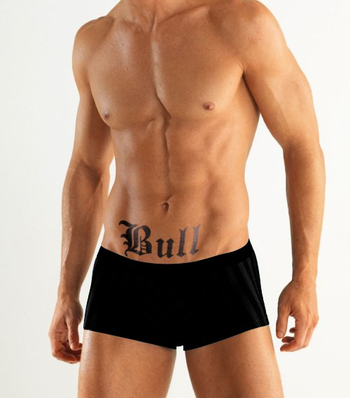 KIT-029M BULL tattoo by KINK INK TATTOOS naughty adult and temporary