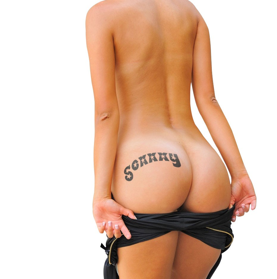 KIT-037 SEXXXY temporary tattoo by KINK INK TATTOOS of Australia